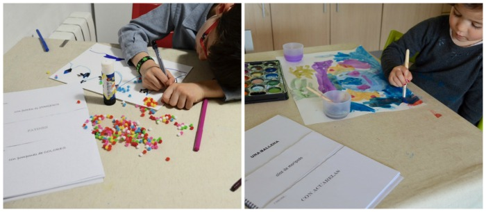 recurso creatividad niños: generador cuentos y dibujos,  con imprimible, dibujando