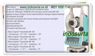 Nikon Theodolites-Spectra Precision dari peralatansurvey.com