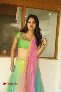 Actress Nikitha Bisht Stills in Lehenga Choli at Pochampally Ikat Art Mela Launch  0022.JPG