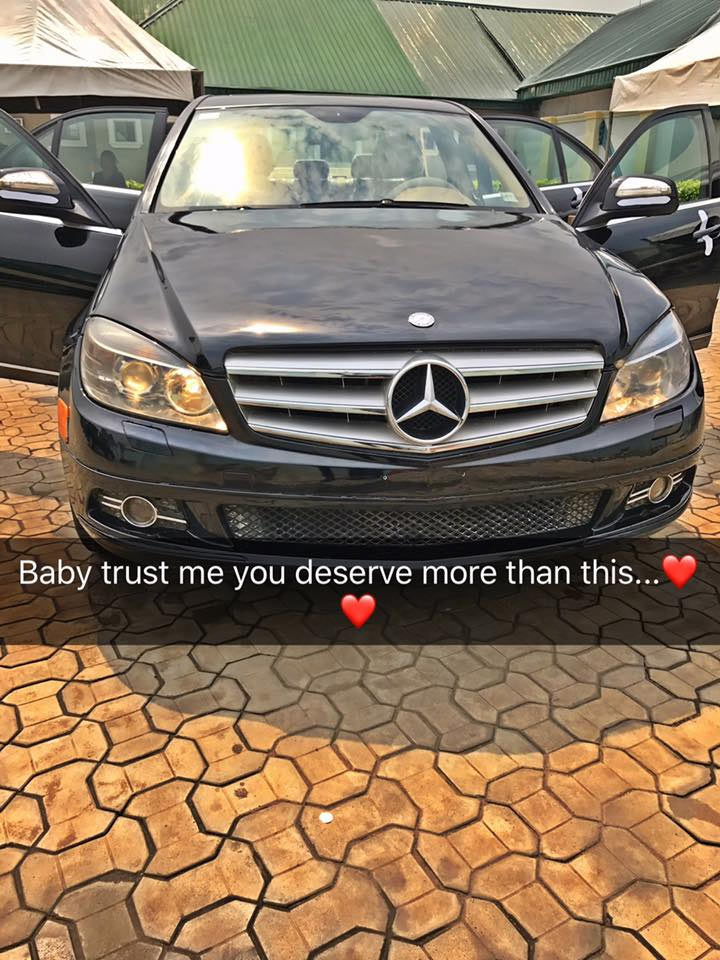Nigerian boy Fazky Millz engaged his 2go girlfriend with N15m Benz (See photos)