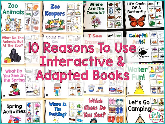 Using adapted interactive books in your special education classroom can have huge benefits for your students. They can create the essential foundation skills for future literacy skills. Adapted interactive books will help your address literacy IEP goals and objectives and those that address behavior.