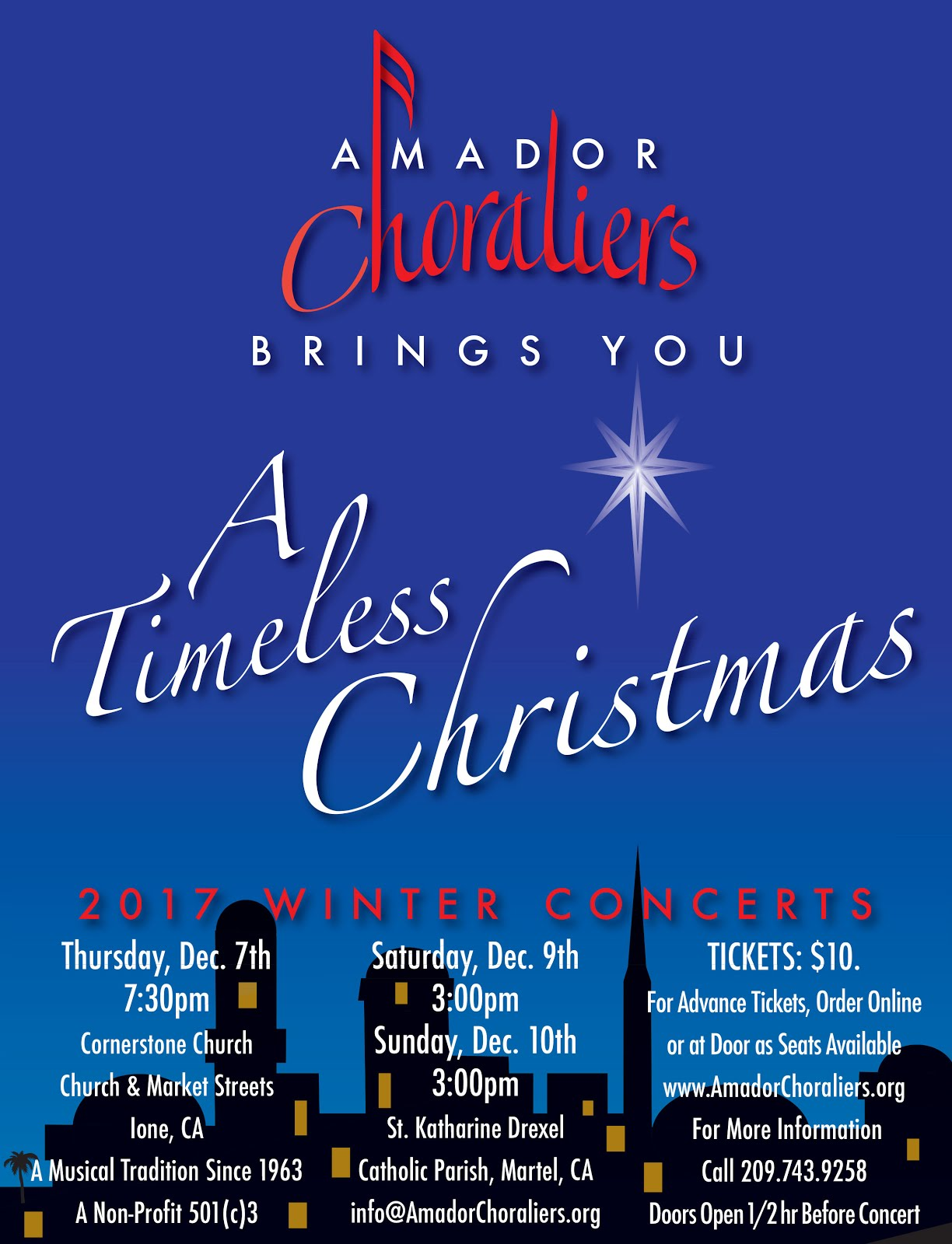 Amador Choraliers: A Timeless Christmas - Dec 7, 9 & 10