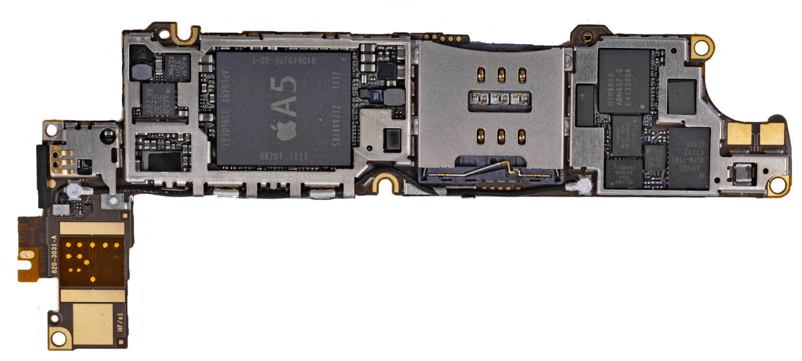iphone 5 motherboard pictured