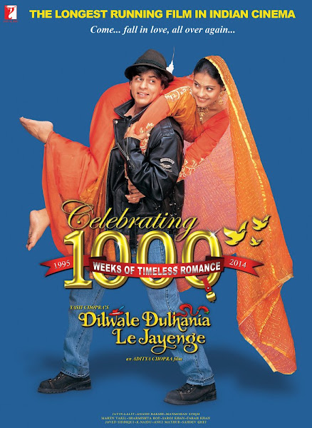 Poster Of Dilwale Dulhania Le Jayenge 1995 720p Hindi BRRip Full Movie Download