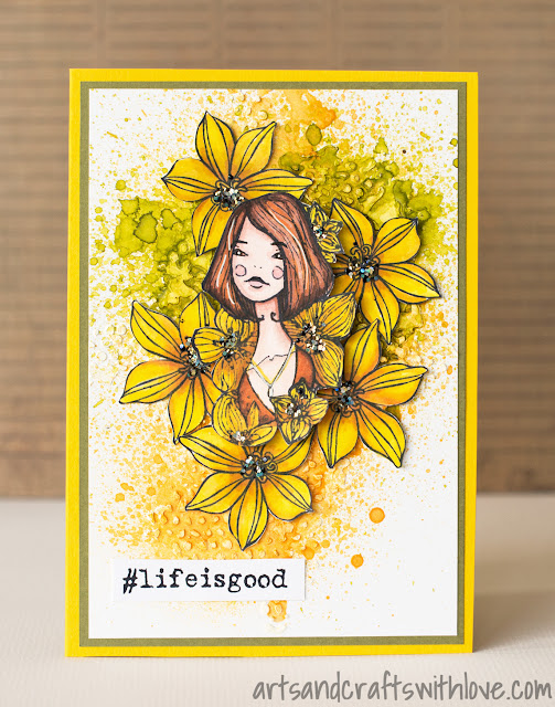 Cardmaking: Card for Craft Stamper Take It Make It July Challenge: Life is good