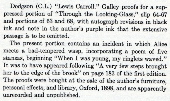 """Auction catalogue entry: The Wasp in a Wig; Martin Gardner and Macmillan 1977."""