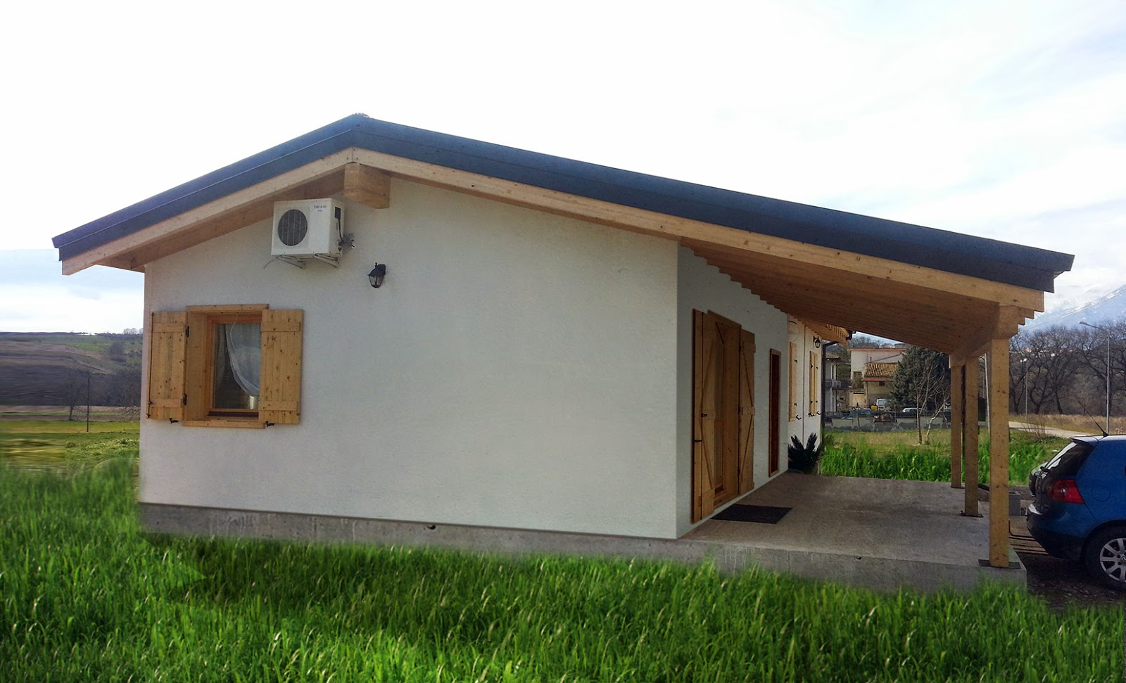 progetti di case in legno casa 110 mq portico 10 mq On case con portico in legno