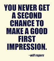 Nunca terás uma segunda oportunidade de causar uma boa primeira impressão