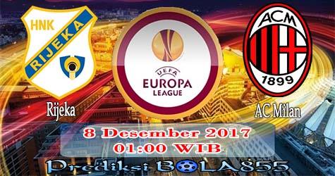Prediksi Bola855 Rijeka vs AC Milan 8 Desember 2017