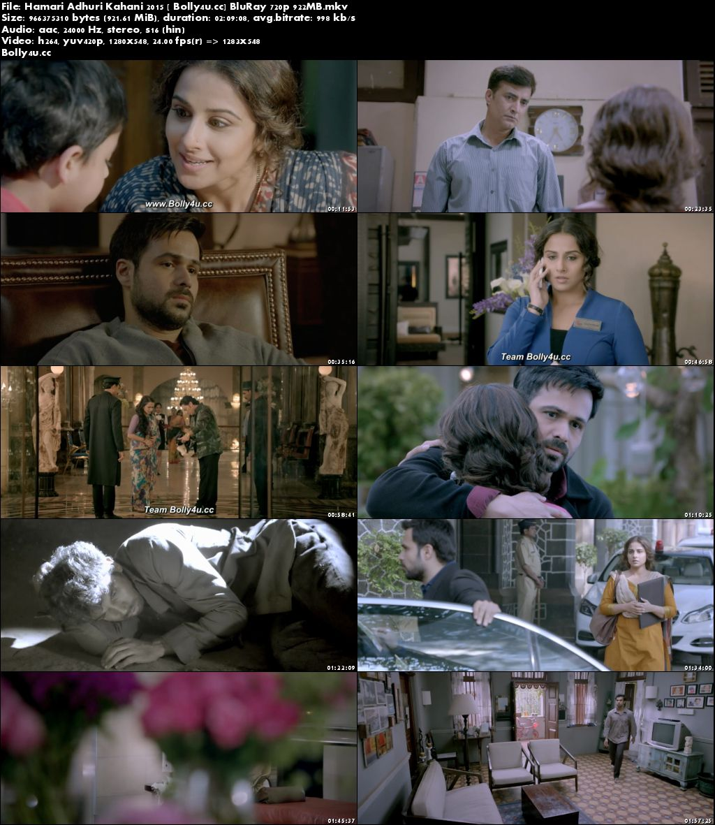 Hamari Adhuri Kahani 2015 BluRay 900MB Hindi 720p Download