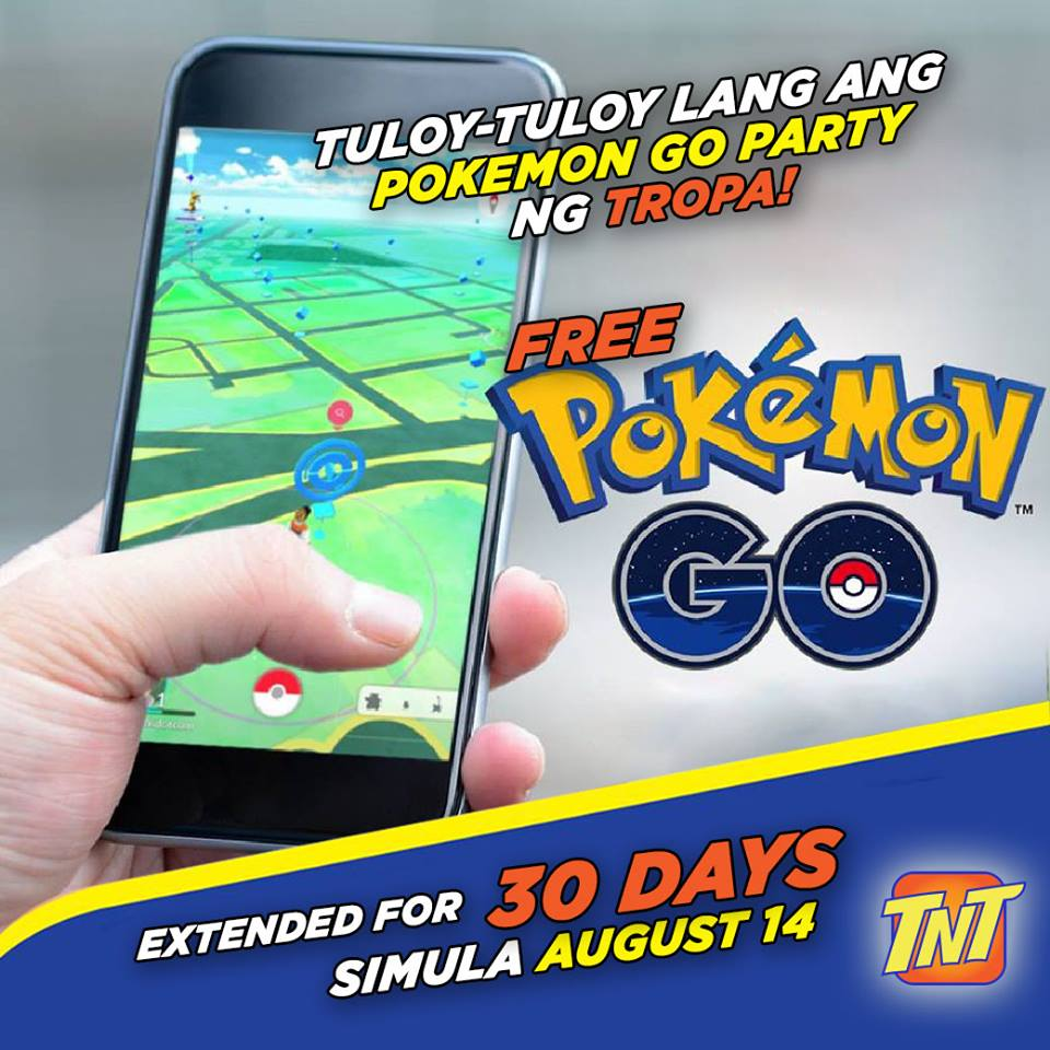 TNT free Pokemon GO access extended for 30 days