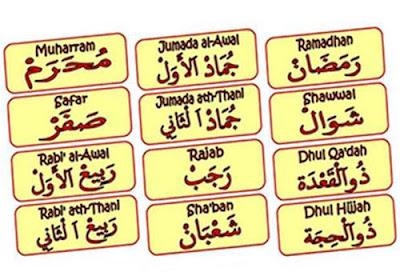Nama Bulan Dalam Bahasa Arab
