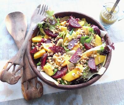 Beet, Mango, & Belgian Endive Salad