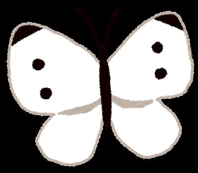 モンシロチョウのイラスト(蝶)