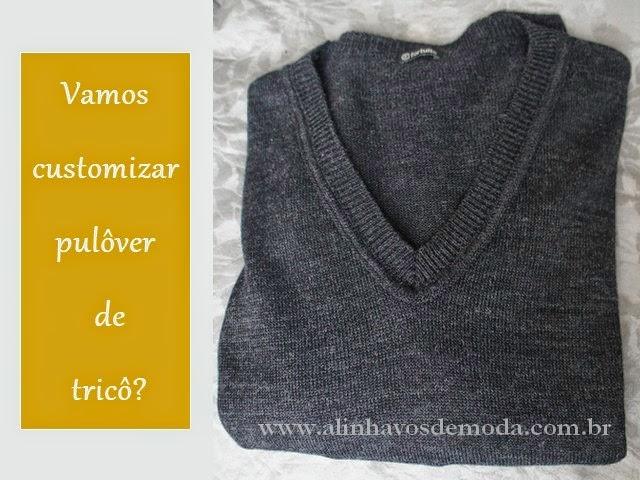 Suéter de tricô de lã, básico.