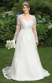 Modelos de vestido de noiva simples para gordinhas