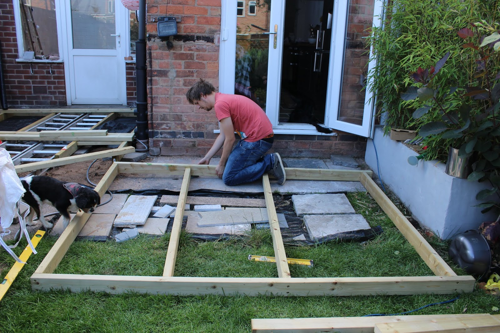 DIY Frame for Decking