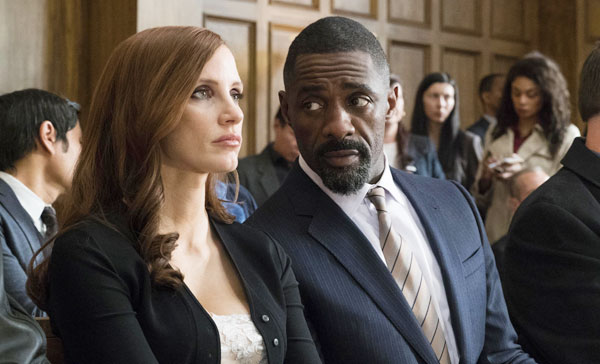 Jessica Chastain and Idris Elba in MOLLY'S GAME (2017)