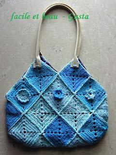 Handtasche aus Granny Squares
