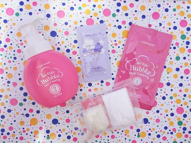 ruivo acobreado bubble hair coloring etude house