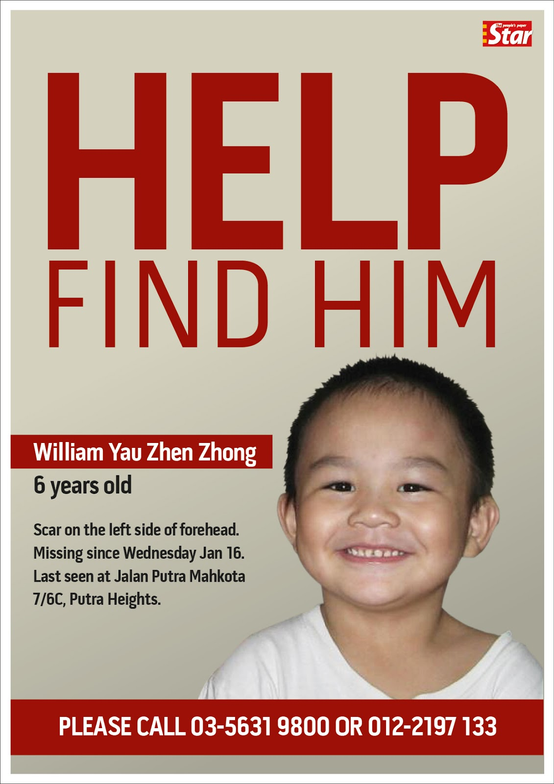 Tuesday, January 22, 2013  Make A Missing Person Poster