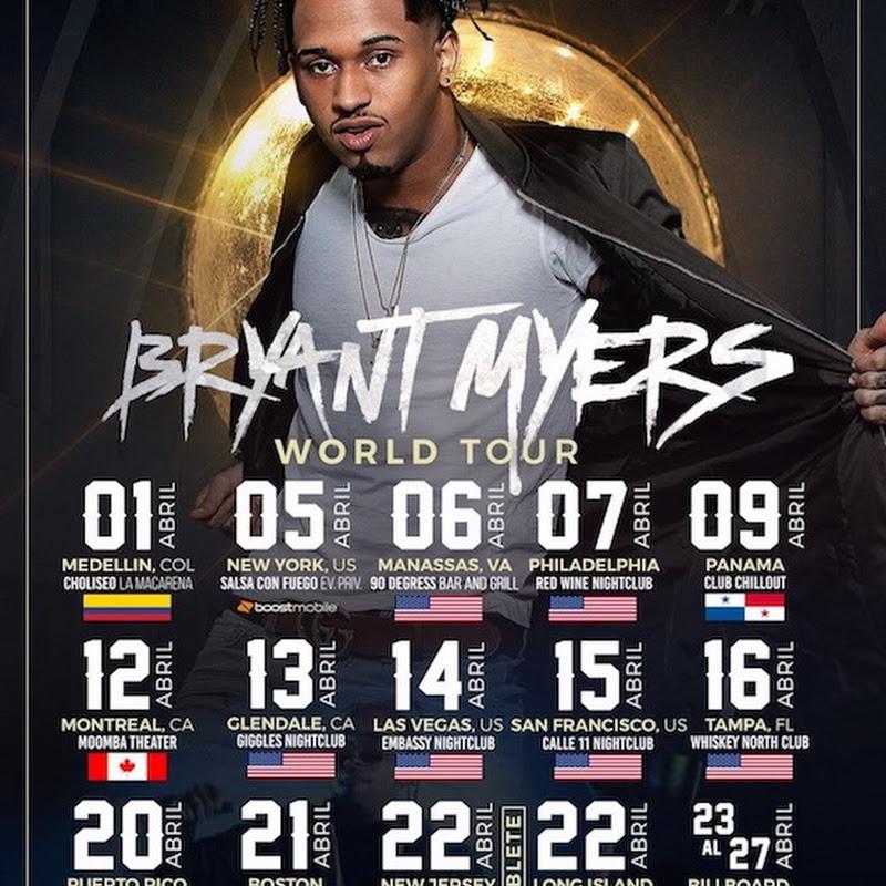 Bryant Myers anuncia su primera gira por Estados Unidos