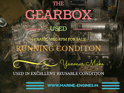 gearbox, 4:1, transmission, used, reusable, marine, engine, shipbreaking, motor, moteur