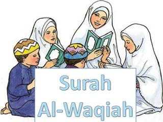 Teks Bacaan Surat Al Waqi'ah Arab Latin