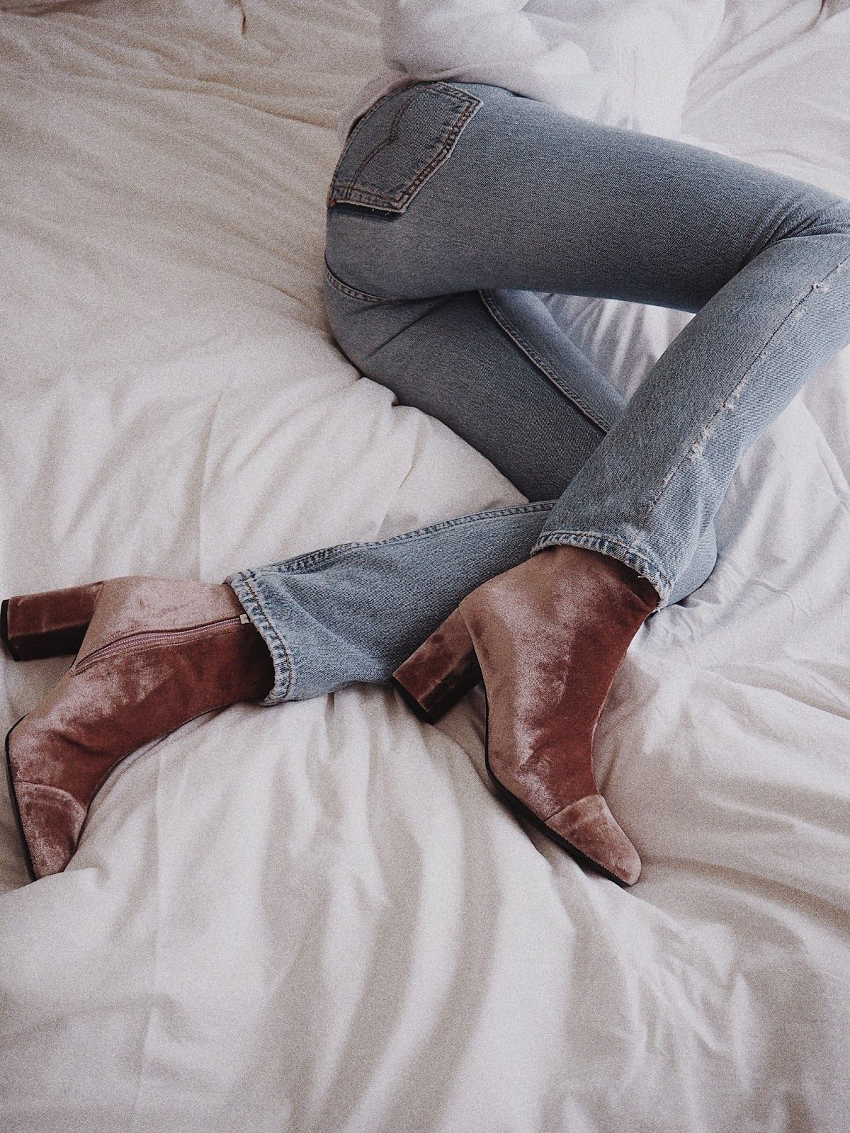 The Coolest Velvet Boots to Shop Now — Classic Jeans and Booties