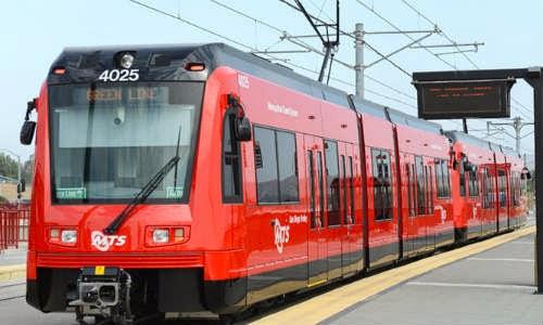Transporte público de Trolley em San Diego