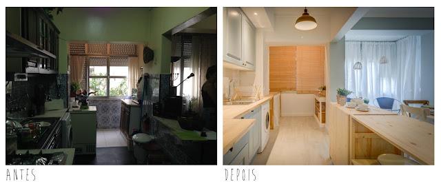 Blog Achados de Decoração. Antes e Depois da Cozinha Turquesa