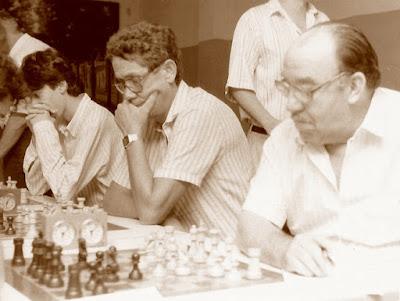 Algunos jugadores participantes en el XV Abierto Sant Andreu 1986