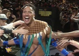 WWF / WWE SURVIVOR SERIES 1996: The Rock Rocky Maivia made his debut at the show