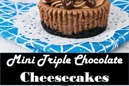 #Amazing #Recipes #Around #The #World #Mini #Triple #Chocolate #Cheesecakes