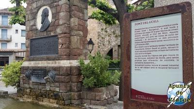 Fuente de Güell en La Pobla de Lillet