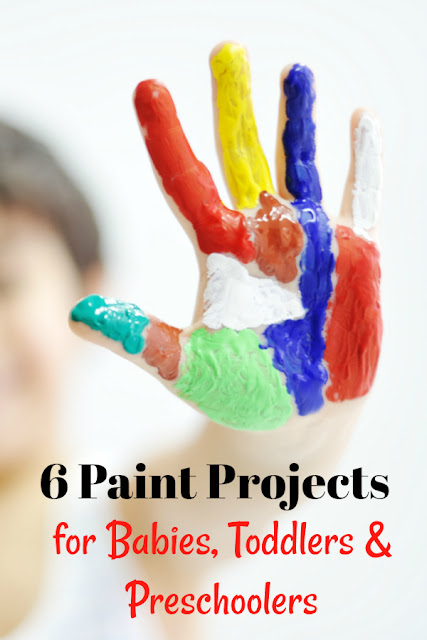 Looking for an engaging activity for your baby, toddler, or preschooler? Try these painting projects!