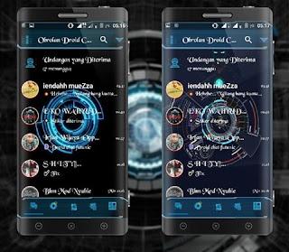 BBM Transparan Droid Chat Tema Futurstik v3.1.0.13 APK