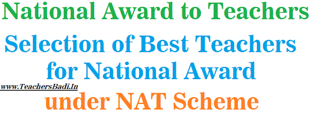 Scheme of National Award to Teachers, Guidelines, Selection procedure