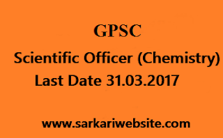 Scientific Officer (Chemistry)