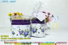 Tempat Tusuk Gigi Purple Flowers