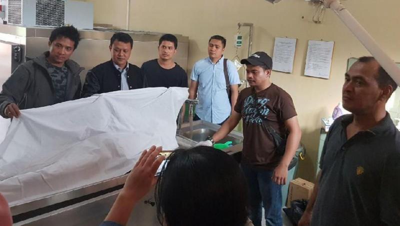 Jenazah Saiful di RS Bhayangkara Polda Lampung