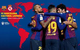 مشاهده مباراة برشلونة وكولتورال ديبورتيفا ليونيسا بث مباشر