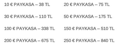 paykasa fiyatlari