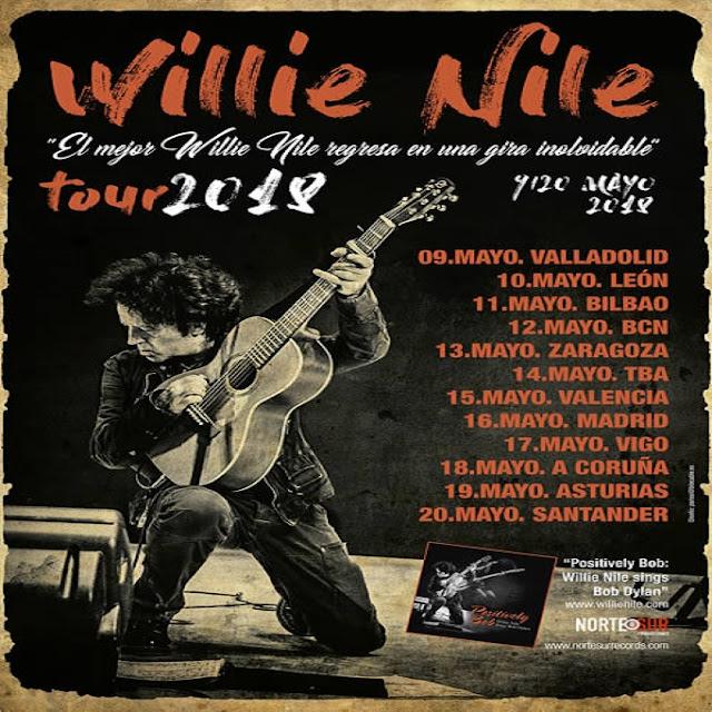 Willie Nile con canciones de Dylan - Gira Mayo 2018 - 1