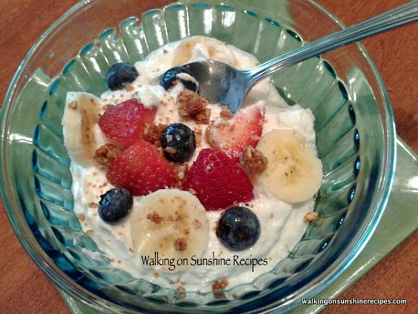 Easy and delicious Homemade Greek Yogurt made in the crock pot from Walking on Sunshine Recipes.