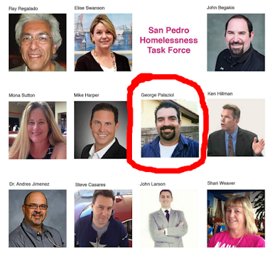 George Palaziol is on San Pedro Homelessness Task Force via Joe Buscaino Facebook Feed