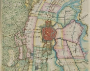 Kaart Hoogheemraadschap van Rijnland. Bron: http://www.wur.nl/en/Expertise-Services/Facilities/Library/About-the-Library/News/show/Old-maps-added-to-the-Image-Collections.htm