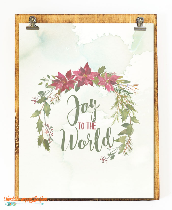 These four lovely Watercolor Christmas Printables are the perfect addition to any holiday decor.