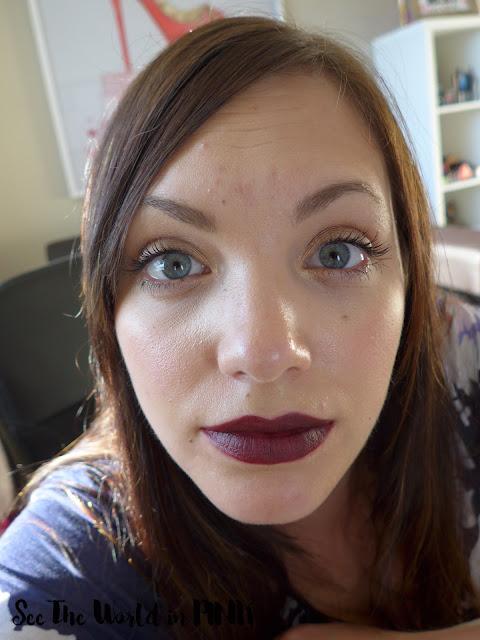 Ajani Cosmetics soft matte lipstick review berry bossy