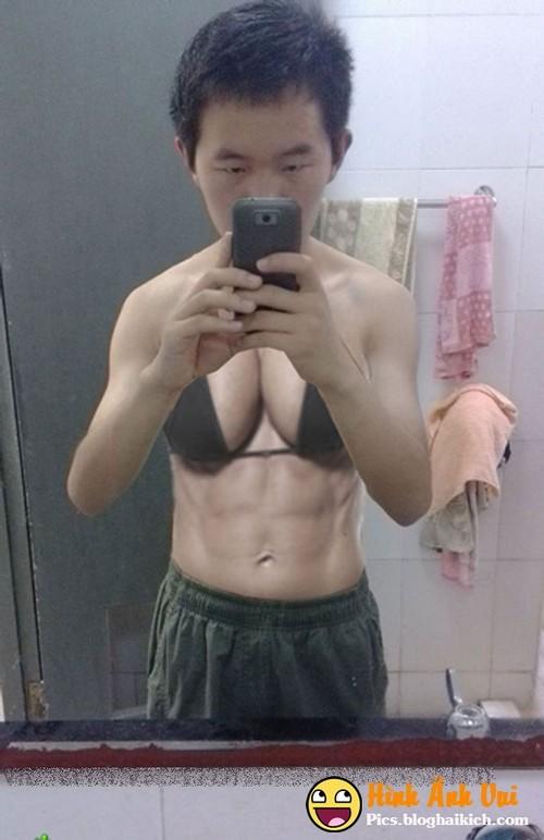 Ảnh chế thêm ngực bằng photoshop